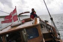 """Skipper Niels Harborg på """"Lappedykkeren"""""""