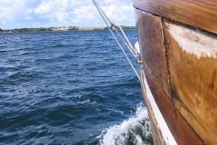 Frisk over Limfjordens vande