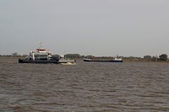 Skibstrafik på Elben, set fra færgen