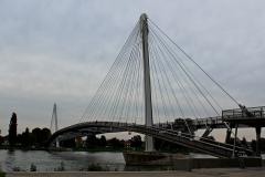 Fodgænger- og cykelbro over Rhinen
