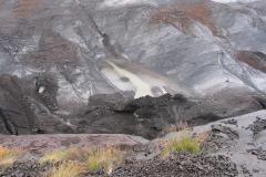 Is med spor af vulkansk aske